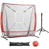 c2e1845a0 Pinty Baseball and Softball Practice Net 5×5 Hitting Batting Net w/Target  Zone