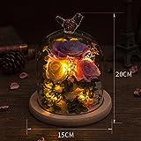Glass Color Eternity Flower Gift Box/ Giant Rose Flower Ornaments/Creative Flowers-I