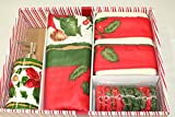 "Carnation Home Fashions 16-Piece ""Christmas Floral"" Bath Set"