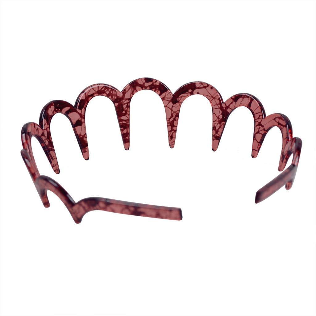 2 pezzi Fodattm Cerchietto per capelli con denti di squalo a zig zag in plastica
