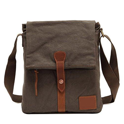 Uomini E Donne Vintage Canvas Messenger Ipad Shoulder Tote Business Bag Da Viaggio, C-31cm * 4cm * 34cm