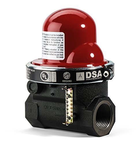 Pacific Seismic Products 301 Series Horizontal Earthquake Gas Shut-Off Valve, 1-Inch by Pacific Seismic Products - Series Shut Off Valve