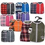 Dog Blanket Coats Reversible Waterproof Reflective Jacket - Choose Color & Size(Small Ultra Violet