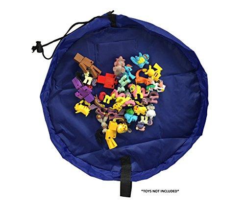 (Kool KiDz Toy Storage Bag Toy Organizer Small 17' Diameter (Blue))