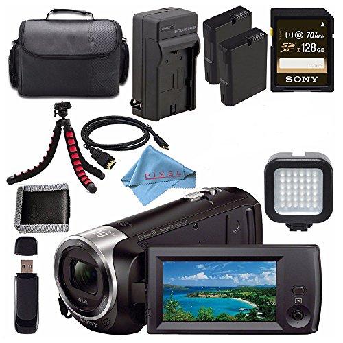 Sony HDR-CX405 HDR-CX405/B HD Handycam Camcorder + Rechargab
