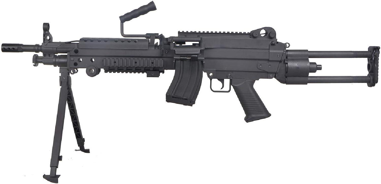 CyberGun Airsoft-M249 para Fn Herstal Minimi AEG Nylon Fiber y Metal/Color Black/Electric (0.5 Joule) - Semi/Full Automatic