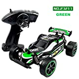 Winkey 1:20 2.4GHZ 2WD Radio Remote Control Off Road RC RTR Racing Car Truck Toy, Toys For 1 2 3 4 5 6+ Year old Baby Boy Girl (Green)