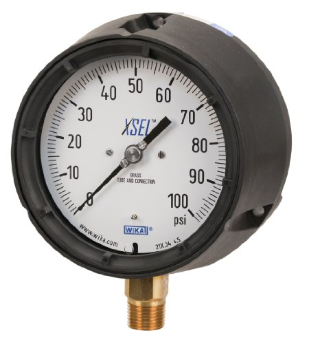 WIKA 9834766 Process Pressure Gauge, Liquid-Filled, Coppe...