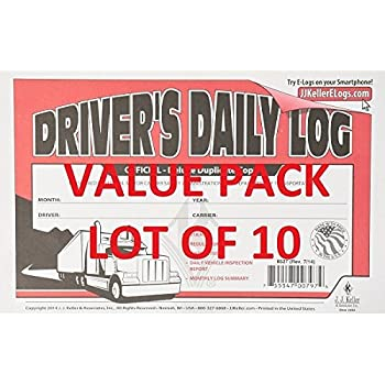 Amazon com : J J  Keller - Duplicate Driver's Daily Log Book