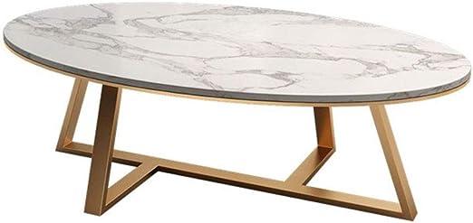 mesas de Centro Mesa de Centro Moderna de mármol Oval, Mesa de ...
