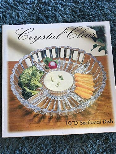 Sectional Serving Dish - Crystal Clear Alexandria Sectional Dish/Platter, 10-Inch