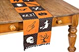 Xia Home Fashions Halloween Patchwork Table Runner, 13 by 108''