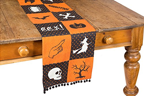 Xia Home Fashions Halloween Patchwork Table Runner, 13 by 108'' by Xia Home Fashions