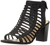 CALL IT SPRING Women's Miriradia Heeled Sandal, Black Nubuck, 8 B US