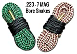 Bore Snake Cleaner For Ar-15 And 7MM Mag Rifles - Super Fast Barrel Cleaning For Your Remington Ruger Sig Sauer Smith and Wesson Browning Savage Arms CZ USA Weatherby Hunting And Assault Rifles