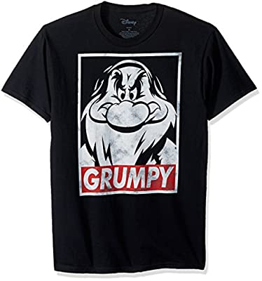 Disney Men's Snow White and Seven Dwarfs Grumpy Graphic T-Shirt