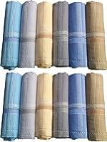 CHRONAX White Men's Cotton 45x45Cm Handkerchief
