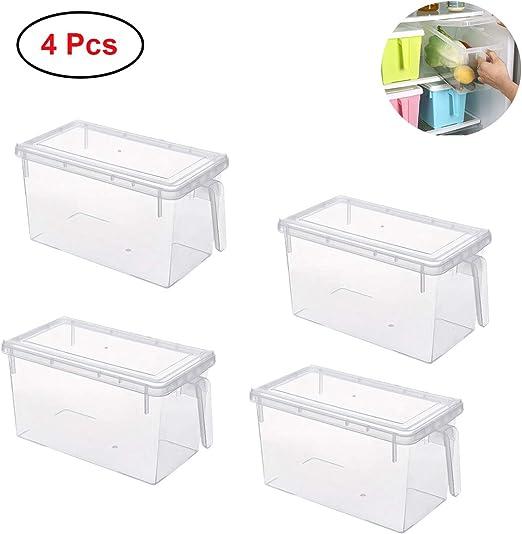 Mecotech 4Pcs Organizador de Alimentos para Cocina/Congelador ...