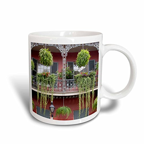 3dRose 144482_1 Use, Louisiana, New Orleans, French Quarter Mug, 11 oz, Ceramic (New Orleans Outlet)