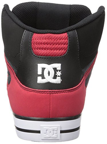 DC Spartan Hi WC Rouge Gris Blanc Hommes Skate Formateurs Chaussures Bottes