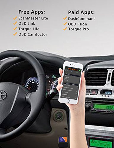 kungfuren OBD2 Scanner, [2018 NEW] Code Reader Car diagnostic Tool Compatible With IOS, Android & Windows Devices Connects Via WiFi For Cars by kungfuren (Image #7)