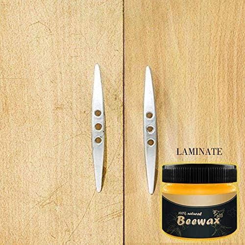 Holzgewürz Beewax - Traditionelles Bienenwachs-Poliermittel für Holz und Möbel, Bienenwachs für Holzreiniger und polnische Tücher - Ungiftig für Möbel zum Verschönern und Schützen (2 PC)