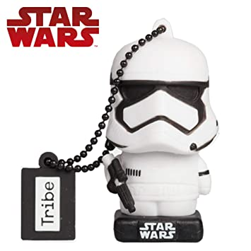 Tribe Star Wars 8 Pendrive - Memoria USB Flash Drive 2.0, de Goma, de 32 GB con Llavero, diseño Stormtrooper