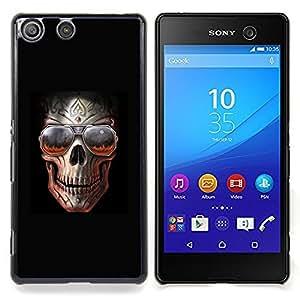 - Rock Skull Black Metal Shades Cool Hell/ Duro Snap en el tel????fono celular de la cubierta - Cao - For Sony Xperia M5