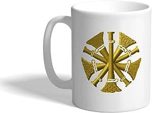 Custom Coffee Mug 11 Ounces Firefighter Chief Gold Profession Ceramic Tea Cup Design Only