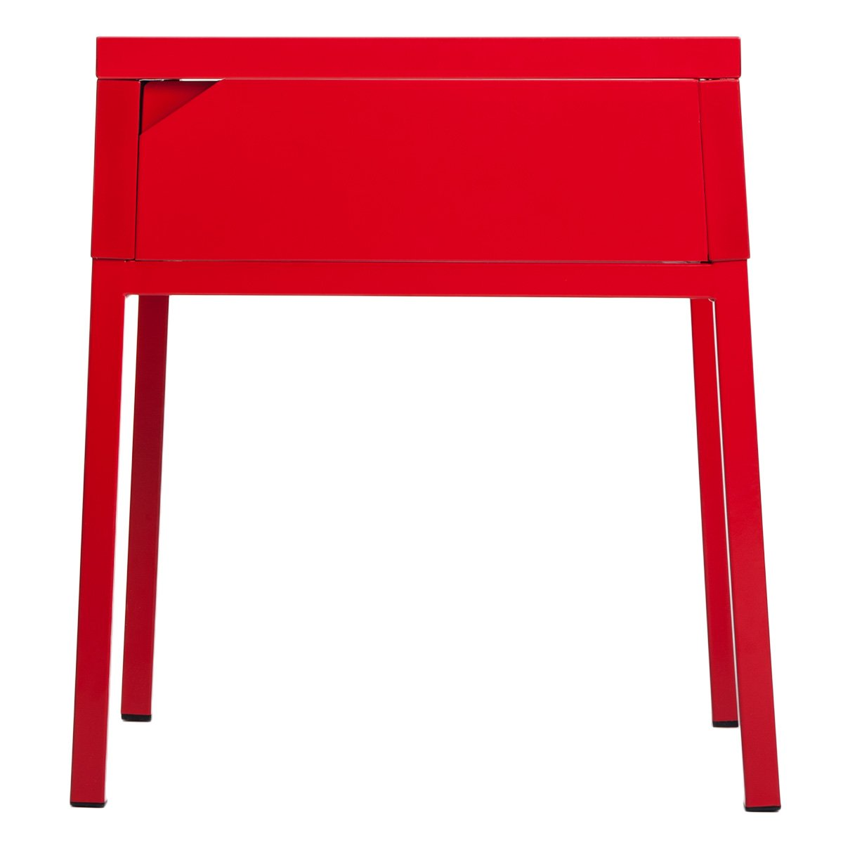 amazoncom merax metal end tablenightstand with one drawer  - amazoncom merax metal end tablenightstand with one drawer accent sidetable (red) kitchen  dining