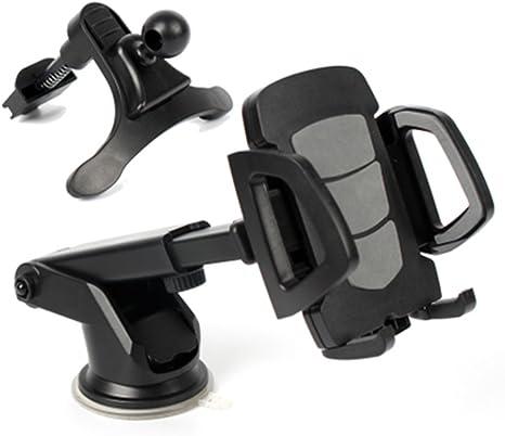 Umitive Supporto Smartphone per Auto Braccio Telescopico Regolabile Porta Cellulare da Auto con Ventosa per Cruscotto 360/° Rotazione Supporto Telefono Auto per iPhone Samsung Huawei ecc