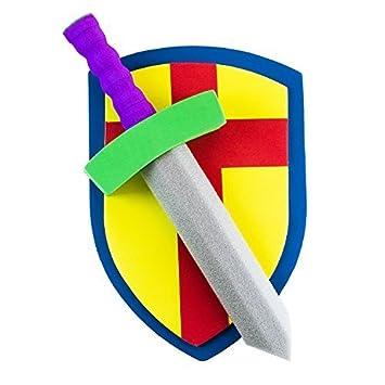Amazon.com: Super Z Outlet - Juego de espada y escudo ...