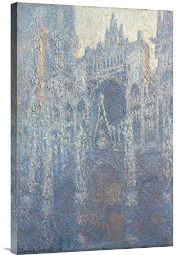 Global Gallery Budget GCS-454990-2030-142 Claude Monet The Portal of Rouen Cathedral in Morning Light Gallery Wrap Giclee on Canvas Wall Art Print