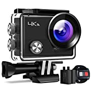 APEMAN Action Camera A77, 4K 16MP WiFi Sports for Vlog Underwater Cam Waterproof 30M with Remote Control