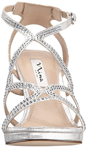 Sandal Skylight Women's Nina Yf Varsha Dress Silver qnzYwIRY