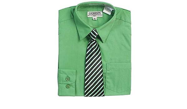 Botón verde Boys Juego de Up Camisa Negro corbata a rayas 5 - 18 ...