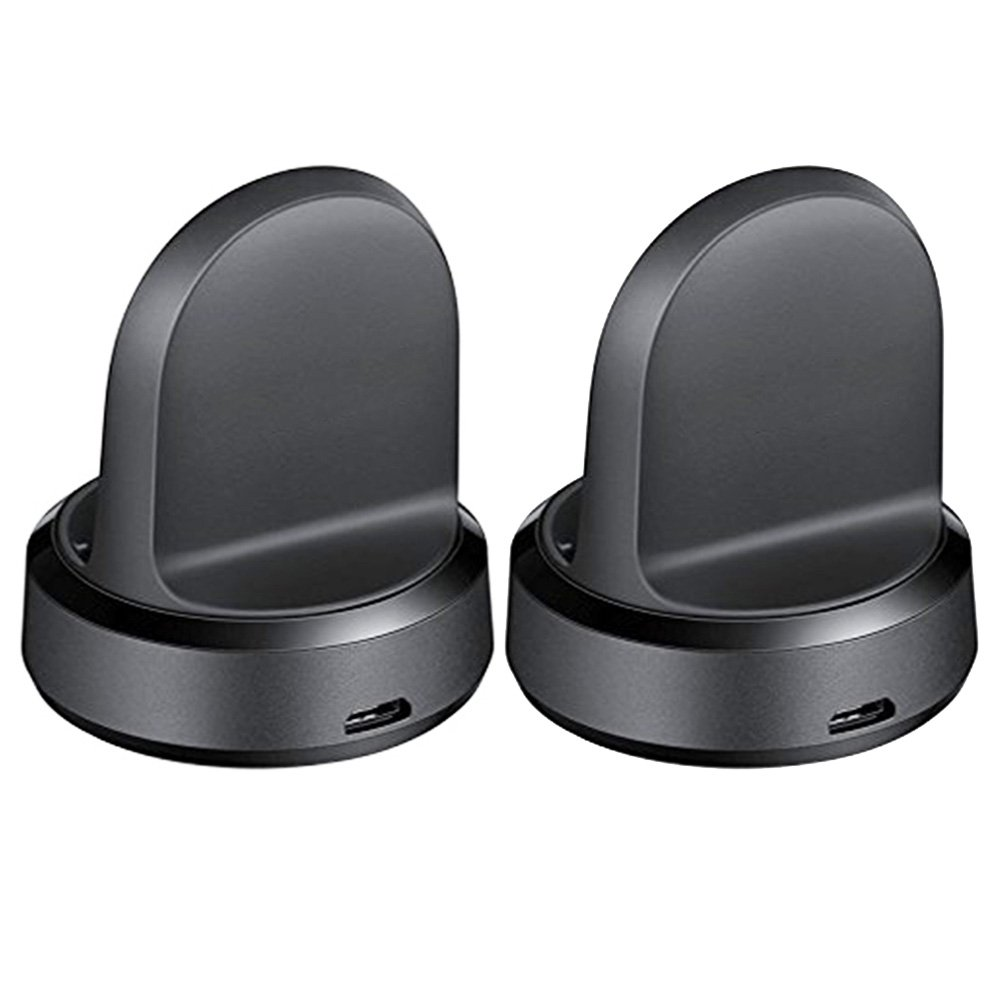 Gear Sport Charging Dock, Husha Replacement Charger for Samsung Gear Sport SM-R600 Smart Watch (Black, 2-Pack)