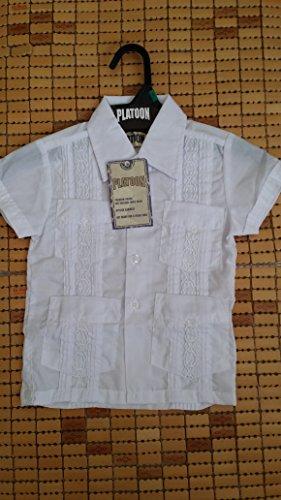 New White Boy Guayabera Embroidered Shirts. Size 10.8