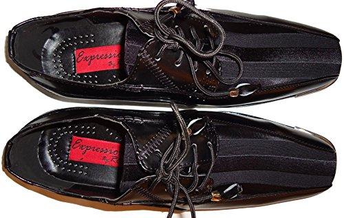 Expressions 4925 Mens Fantaisie Noir Argenté Cool Robe Tux Chaussures