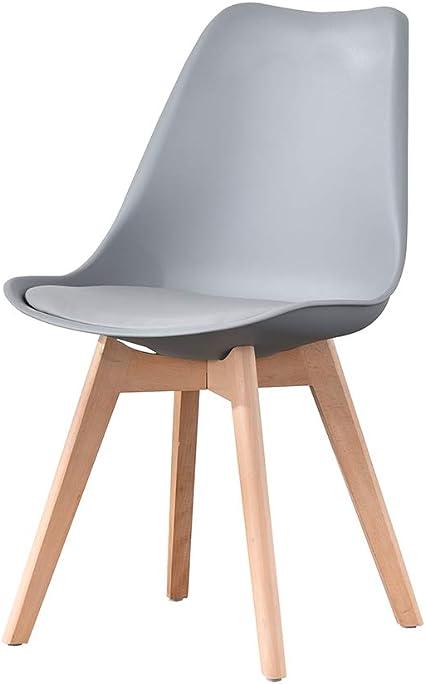 ArtDesign FR Silla Nórdica (Pack 4) - Silla Escandinava Gris ...
