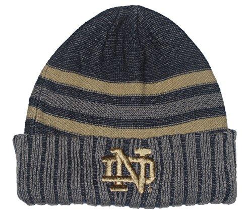 スナップアルプス統計Notre Dame Fighting Irish NCAA ( ts282 )ストライプCuffedセーターHeatherニットビーニー帽子