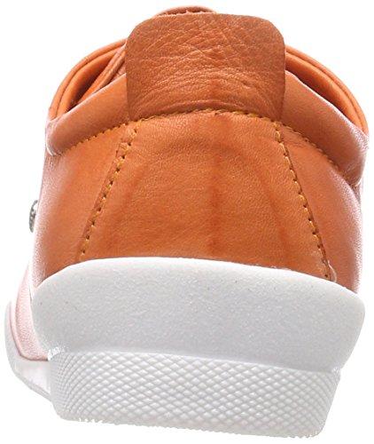 Andrea Konti Dame Sneaker 0345724 Orange (papaya) Pybdsy