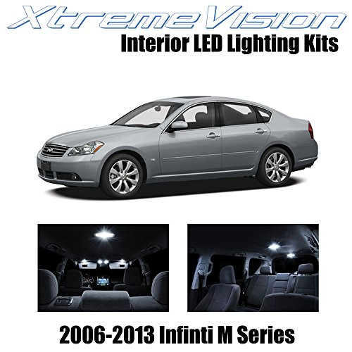 XtremeVision Infiniti M Series 2006-2013 (14 Pieces) Pure White Premium Interior LED Kit Package + Installation Tool