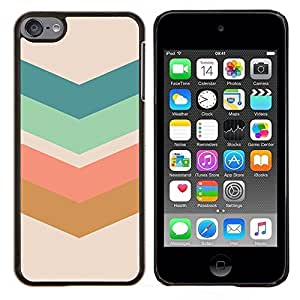 TECHCASE---Cubierta de la caja de protección para la piel dura ** Apple iPod Touch 6 6th Touch6 ** --Flecha Modelo en colores pastel Verde Marrón
