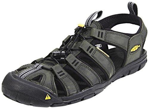 Keen Clearwater CNX Leather - Sandalias para hombre - marrón/negro 2015 magnet-black