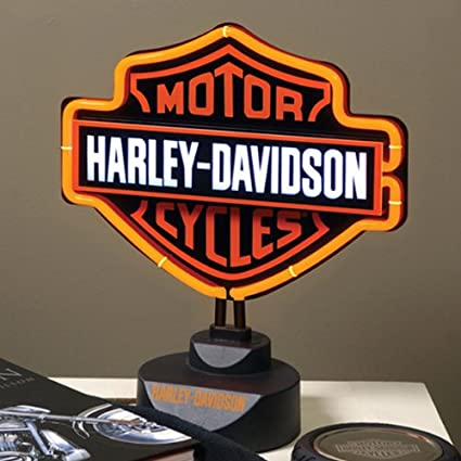 Amazon harley davidson neon table lamp home kitchen harley davidson neon table lamp audiocablefo