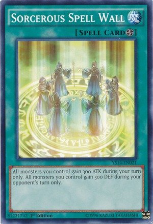 Yu-Gi-Oh! - Sorcerous Spell Wall (YS14-EN021) - Super Starter - Space-Time Showdown - 1st Edition - Common