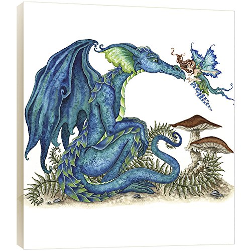 Tree-Free Greetings Close Encounter Dragon and Fairy EcoArt Wall Plaque, 11.2 x 0.5 x 11.2 Inches (AP83583)
