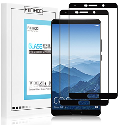 FilmHoo for Huawei Mate 10 [Full Coverage] Premium Tempered Glass Screen Protector,HD Clear,Bubble Free,Anti-Scratch,Lifetime Replacement Warranty