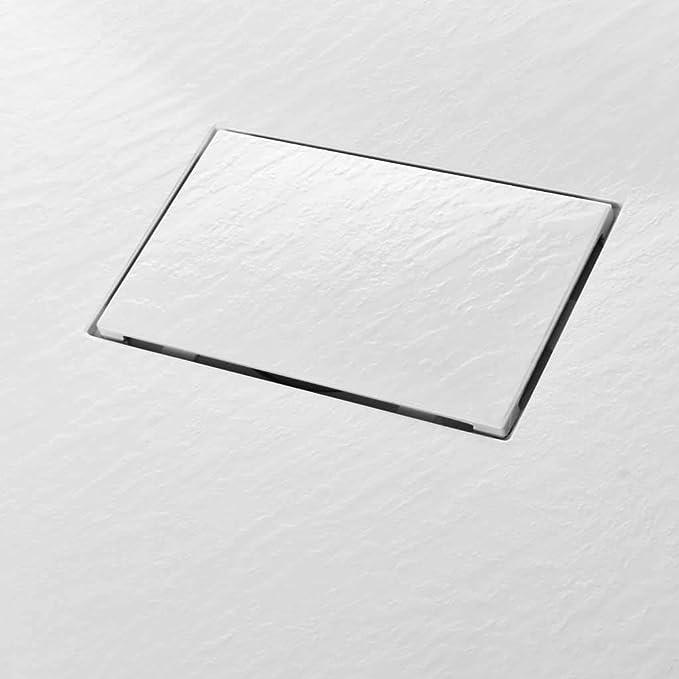 Blanc Mat Texture Pierre Jacob Delafon E62301-WPM Receveur de douche extra-plat IPSO 90x90x3 cm fabriqu/é en France et garantie 10 ans